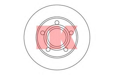 Диск гальмівний зад. Audi 100 quattro/A8 94- NK 204747