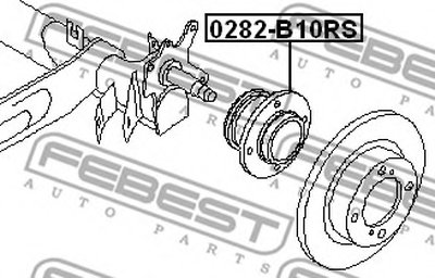 Подшипник ступицы зад. ALMERA B10RS (CLASSIC) 06- (ступица) FEBEST 0282B10RS-1