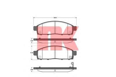 Гальмівні колодки дискові перед. Mitsubishi Pajero/L200 2.5TDI 01 07.01- NK 223033