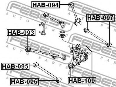 Сайлентблок задней тяги ACCORD CL/CN/CM 02-08 FEBEST HAB095