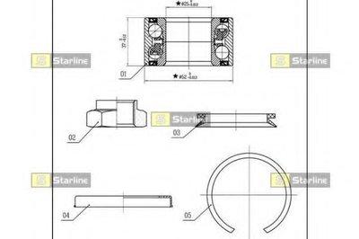 Пiдшипник ступицi колеса STARLINE LO03556