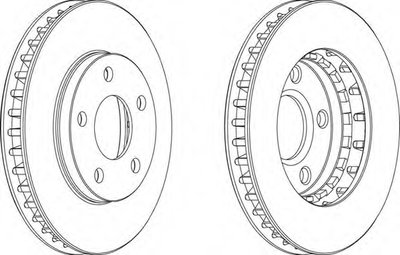 Гальмівний диск FERODO DDF1030
