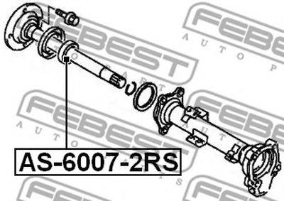 Подшипник шариковый (35x62x14) PAJERO III MONTERO V65W/V75W 00-06 FEBEST AS60072RS-1