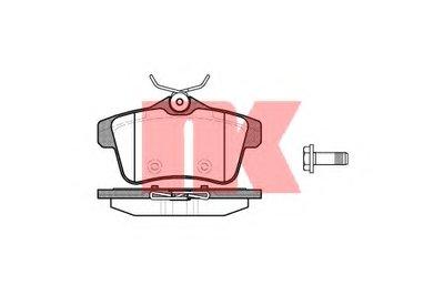 Гальмівні колодки диск.задні Citroen C4/DS4/DS5/Peugeot 308,3008,5008, RCZ 1.4HDi-2.0HDi 09- NK 223749