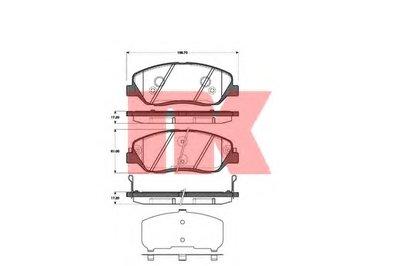 Гальмівні колодки дискові перед. Hyundai Santa Fe 2.2CRDI/2.7 V6 GLS 06- NK 223427
