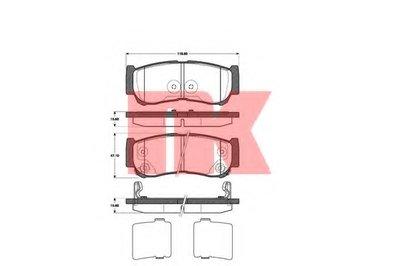 Гальмівні колодки дискові зад. Hyundai Santa Fe II 06- NK 223428