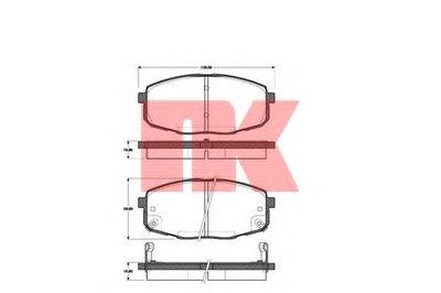 К-кт перед. гальм. колодок Kia Carens II 1.6,1.8,2.0 CRDi 07- NK 223506