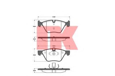 Гальмівнi колодки дисковi перед, BMW 3 (E90/E90N) 320d 05-/X1 (E84) 09- NK 221527