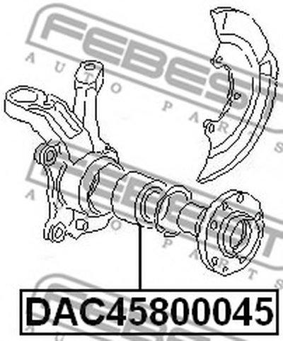Пiдшипник ступицi колеса FEBEST DAC45800045-1