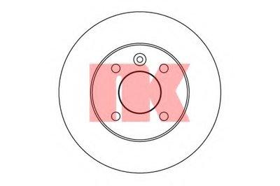 Гальмівний диск зад. (240x10) Opel Astra G NK 203633