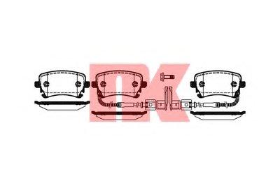 Гальмівні колодки зад. Audi A4/VW Phaeton 02- NK 224786