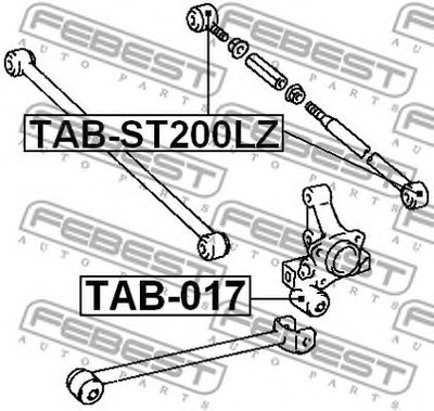 Сайлентблок задней поперечной тяги (плавающий) CARINA E AT190/ST191/CT190 92-97 FEBEST TABST200LZ-1