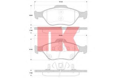 Гальмівні колодки пер.Toyota Yaris 1.0-1.8 05- NK 224581