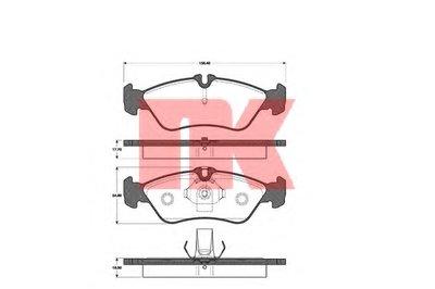 Гальмівні колодки дискові зад. DB Sprinter (901, 902, 903) VW LT (28-35, 28-46) 2.2-2.8 02.95- NK 223329