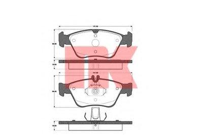 Колодки гальм. передні Mercedes 202/210 2.0-2.5D 95- NK 223330