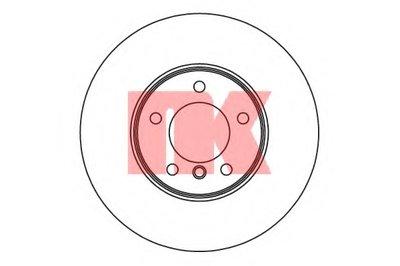 Гальмівний диск перед. BMW 3 (E90/E90N) 320d 05-/X1 (E84) 09- NK 201582