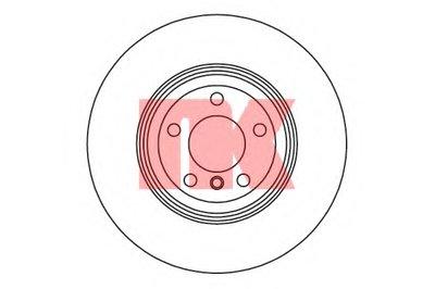 Диск гальмівний задній BMW X5 E70, X6 E71 04-14 NK 201590