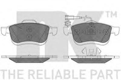 Гальмівнi колодки дискові перед. Fiat Doblo/Lancia Delta III 1.9 D Multijet 01/09- NK 222390