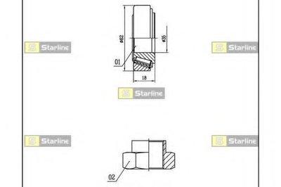 Пiдшипник ступицi колеса STARLINE LO01431