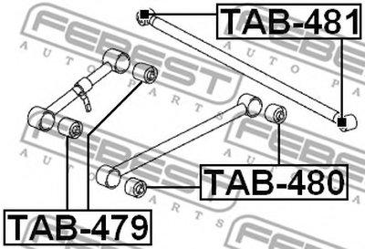 Сайлентблок FEBEST TAB480