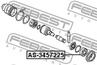 Підшипник підвісний FEBEST AS3457225-1