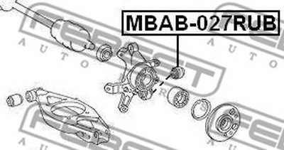 Сайлентблок FEBEST MBAB027RUB-1
