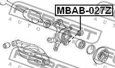 Сайлентблок задней цапфы MB E-CLASS 124,210, CHRYSLER 300C 04- FEBEST MBAB027Z-1