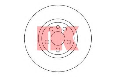 Торм.диск перед. Citroen Jumpy 1.6I-2.0HDI 95.10-, Peugeot Expert NK 201933